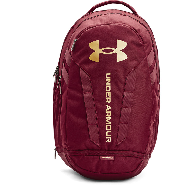 Under Armour® Unisex Hustle 5.0 Backpack League Red/Metallic Gold