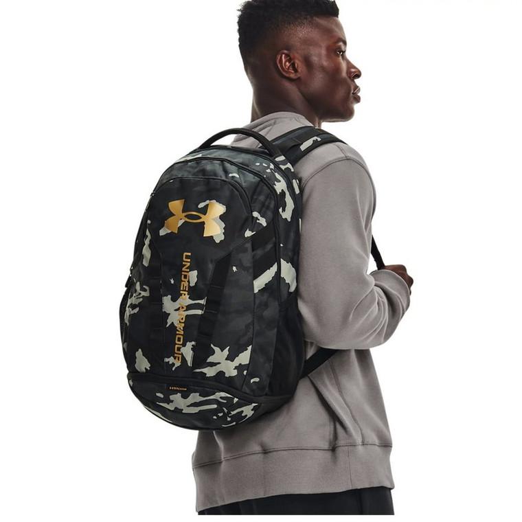 Under Armour® Unisex Hustle 5.0 Backpack Black/Black/Metallic Gold
