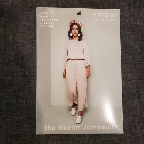 The Avenir Jumpsuit  xs- 4x - Friday Pattern Company