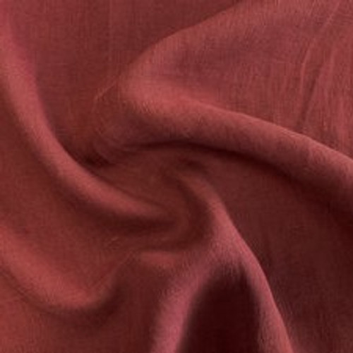 Light-Weight Linen with Antique Finish - Marsala