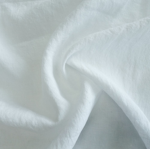 Light-Weight Linen With Antique Finish - White( Sold by the 1/4 meter