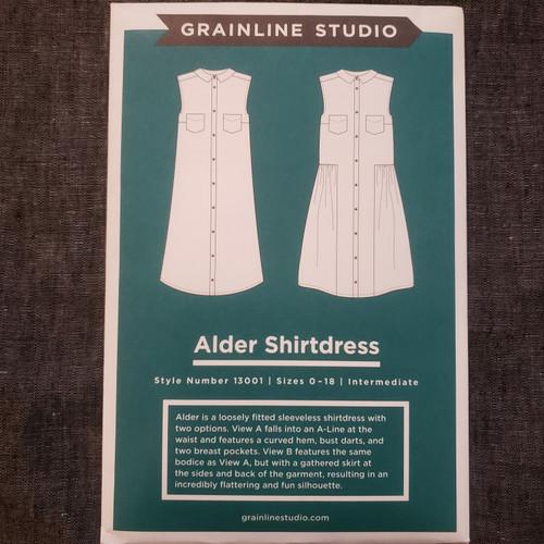 Alder Shirtdress- Grainline