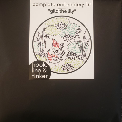 """Gild the Lily"" Embroidery kit by Hook, Line and Tinker"