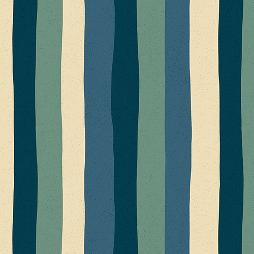 Stripe - Marine, Perennial by Sarah Golden, Andover Fabrics - Sold by the 1/4 meter