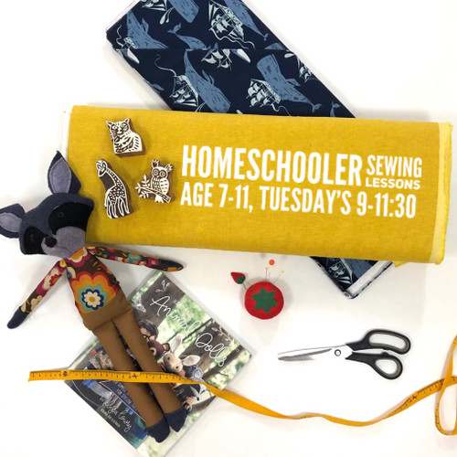 Sewing for Homeschoolers, for students ages 7-11