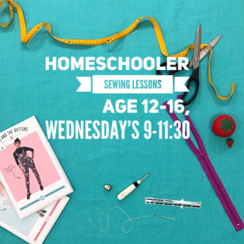 Sewing for Homeschoolers, for students ages 12-16