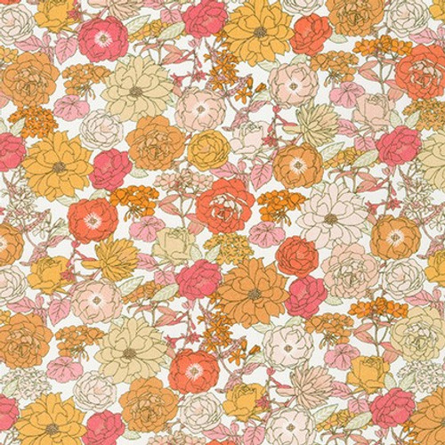 London Calling, Creamsicle - Cotton Lawn (Sold by the 1/4 meter)