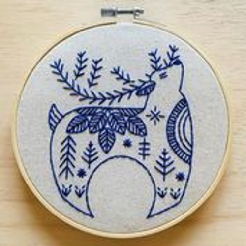 """hygge reindeer"" Embroidery kit by Hook, Line and Tinker"