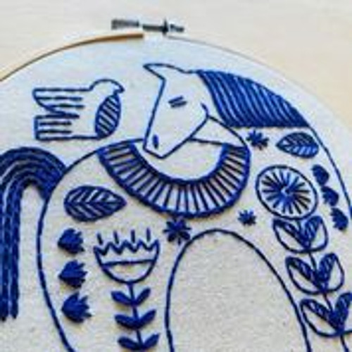 """""""hygge horse"""" Embroidery kit by Hook, Line and Tinker"""