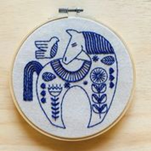 """hygge horse"" Embroidery kit by Hook, Line and Tinker"