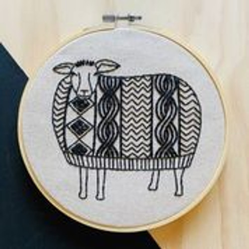 """sweater weather"" Embroidery kit by Hook, Line and Tinker"