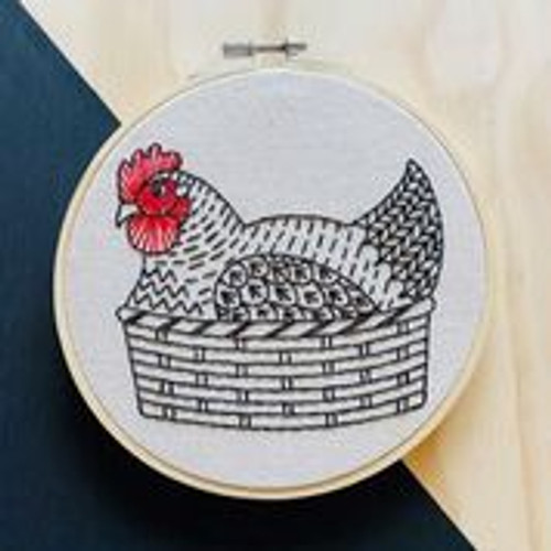 """Henny Penny"" Embroidery kit by Hook, Line and Tinker"