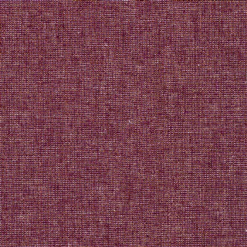 Essex Yarn-Dyed Linen/Cotton, Metallic Burgundy by Robert Kaufman, sold by the quarter meter.