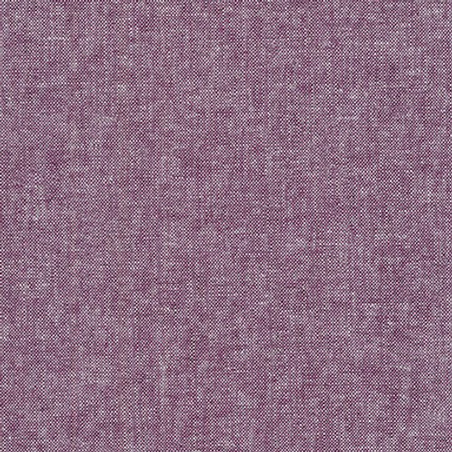 Essex Yarn-Dyed Linen/Cotton - Eggplant, by Robert Kaufman - Sold by the 1/4 meter