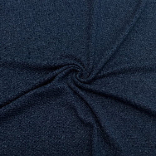 Sweater Knit, Olympia - Rayon with Cotton & Modal, Indigo Sold by 1/4 meter