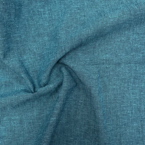 Cotton Linen Blend Ocean (Belize) - Sold by the 1/4 meter