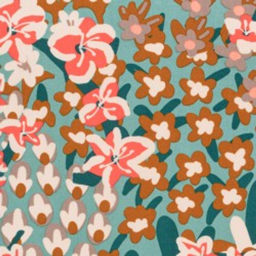 Bengal Floral Kuma - Organic Quilting Cotton by Holli Zollinger Sold by the 1/4 meter