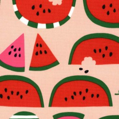 Watermelon - Oxford, 100% Cotton, By Kokka - sold by the 1/4 meter