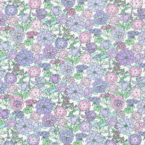 London Calling, Heather by Sevenberry- Cotton Lawn (Sold by the 1/4 meter)