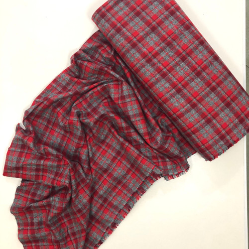 Mammoth Flannel - Red (sold per 1/4 metre)