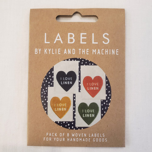 "Kylie and the Machine labels "" I Love Linen"""