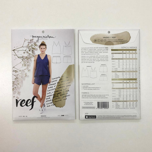 Reef Camisole and Short Set - Megan Nielsen