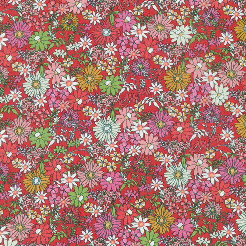 London Calling, Petal Floral- Cotton Lawn (Sold by the 1/4 meter)