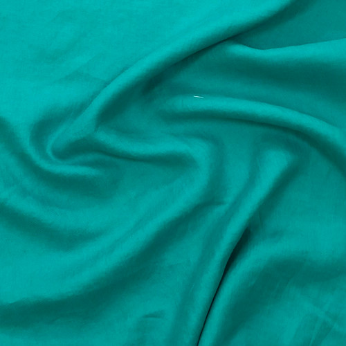 Italian Herringbone Linen - Turquoise(sold by the 1/4 meter)