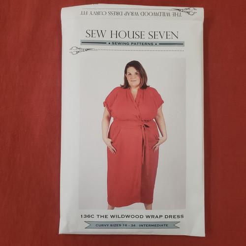 Wildwood Wrap Dress Curvy Sizes (sizes 16-34) - Sew House Seven