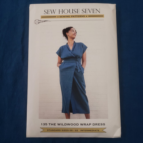 Wildwood Wrap Dress (sizes 00-22) - Sew House Seven