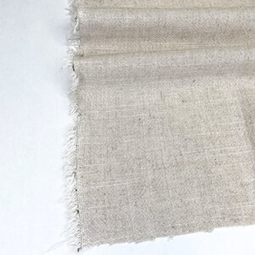 Echo - Jacquard Viscose/Linen Blend - Oatmeal - (sold by the 1/4 meter)