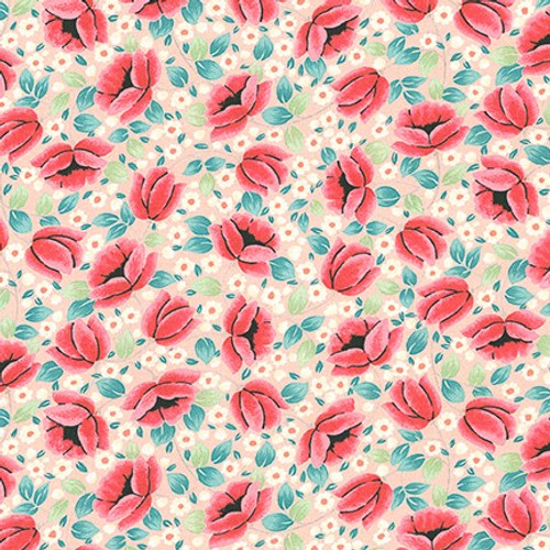 London Calling  10, Peach,  Cotton Lawn (Sold by the 1/4 meter)