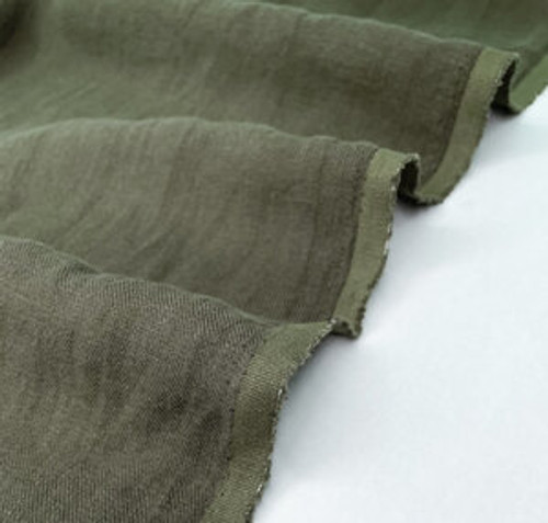 Nomad - Linen Twill with Sand Wash Finish - Bark (sold by the 1/4 meter)