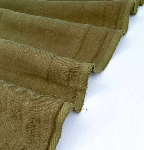 Nomad - Linen Twill with Sand Wash Finish - Moss - (sold by the 1/4 meter)