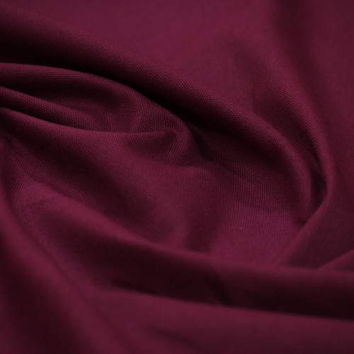 Burgundy cotton canvas