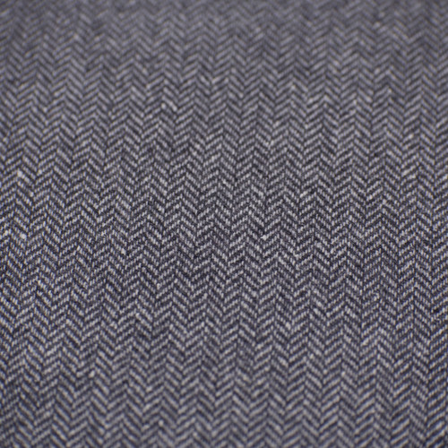 Wool - Black and Grey Herringbone Tweed