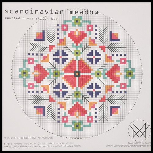 Scandinavian Meadow Cross Stitch Kit by Diane Watters
