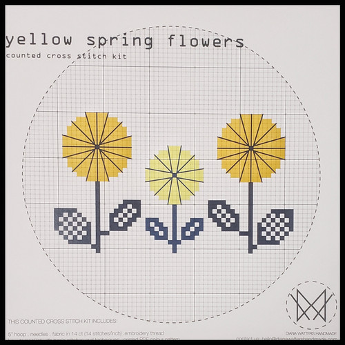 Yellow Spring Flowers Cross Stitch Kit by Diane Watters