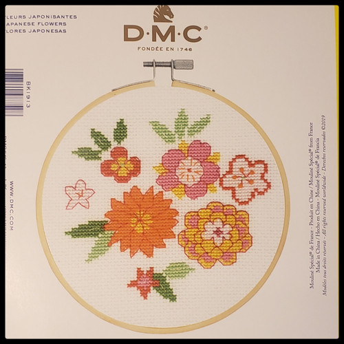 Japanese Flowers Cross Stitch Kit