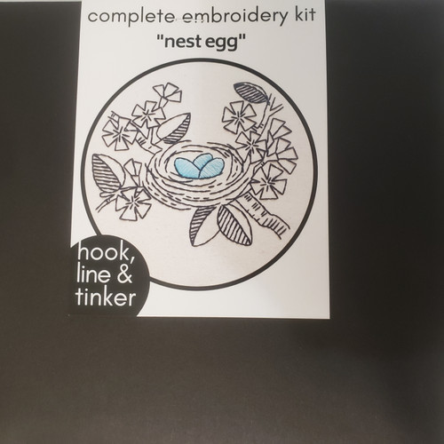"""Nest Egg"" Embroidery Kit by Hook, Line and Tinker"