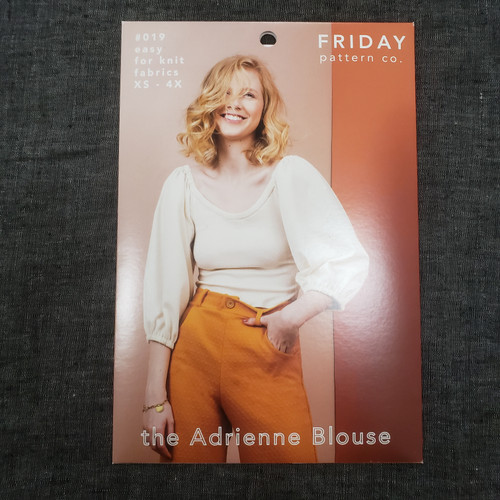 The Adrienne Blouse (for Knit fabrics) xs- 4x - Friday Pattern Company