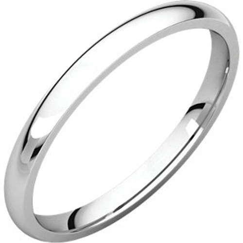 2mm Comfort Fit Low Dome Wedding Band