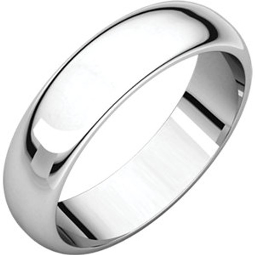 5mm Comfort Fit Low Dome Wedding Band
