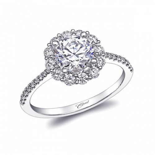 Round Halo Engagement Ring Setting (0.48ctw)