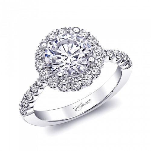 Round Halo Engagement Ring Setting (0.60ctw)