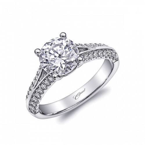 Split-Shank Engagement Ring Setting (0.28ctw) with matching Wedding Band