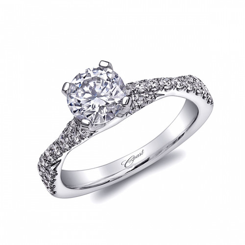 Braided Engagement Ring Setting (0.39ctw) with matching Wedding Band