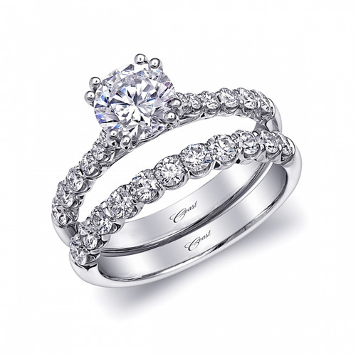 Engagement Ring Setting (0.32ctw) with matching Wedding Band