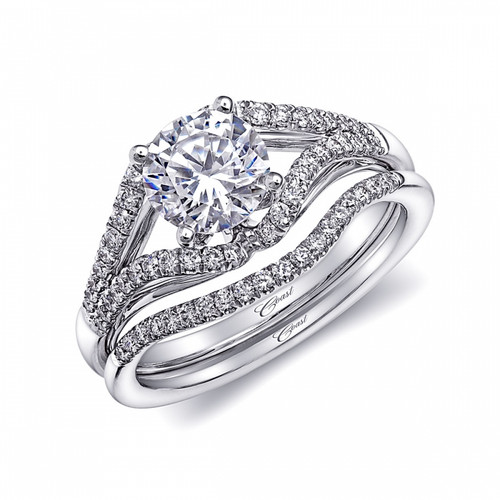 Split-Shank Engagement Ring Setting (0.24ctw) with matching Wedding Band