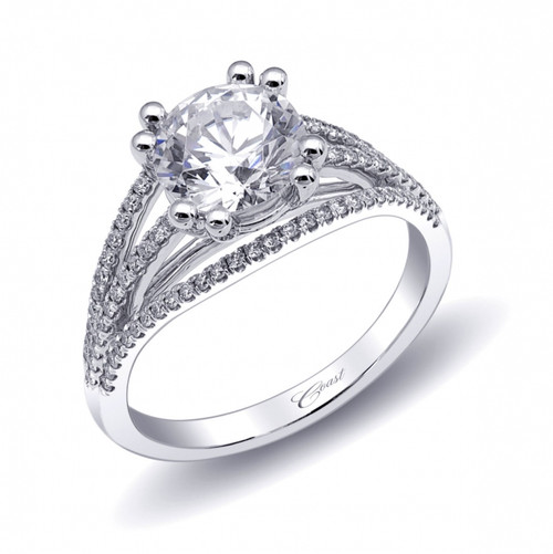 Split-Shank Engagement Ring Setting (0.29ctw)